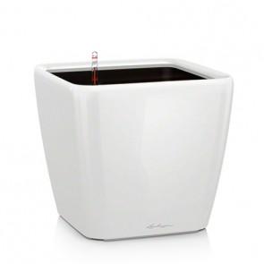 Ghivece Lechuza Quadro 35 LS set cu sistem de udare, alb
