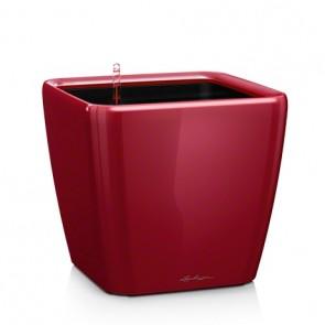 Ghivece Lechuza Quadro 28 LS set cu sistem de udare, rosu